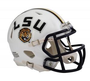 LSU Tigers White Revolution Speed Mini Helmet