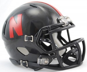 Nebraska Cornhuskers Black Revolution Speed Mini Helmet