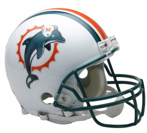 Miami Dolphins 1997-2012 Throwback Authentic Proline Full Size Helmet