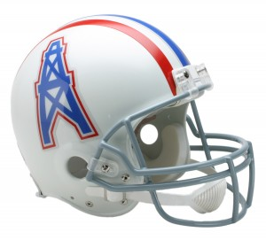 Houston Oilers 1975-1980 Throwback Authentic Full Size Helmet