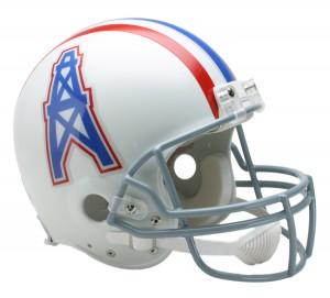 Houston Oilers 1975-1980 Throwback Authentic Full Size Helmet