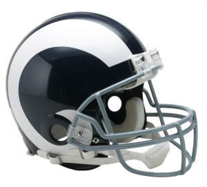 Los Angeles Rams 1965-1972 Throwback Authentic Full Size Helmet