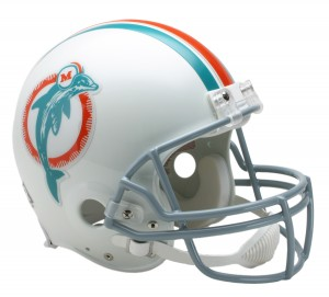 Miami Dolphins 1973-1979 Throwback Authentic Full Size Helmet