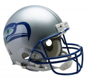 Seattle Seahawks 1983-2001 Throwback Authentic Full Size Helmet