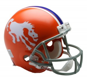Denver Broncos 1966 Throwback Authentic Full Size Helmet
