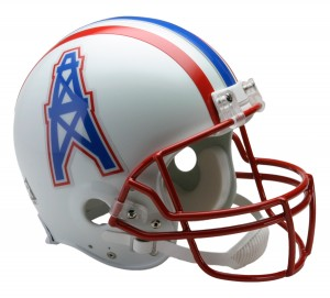 Houston Oilers 1981-1996 Throwback Authentic Full Size Helmet