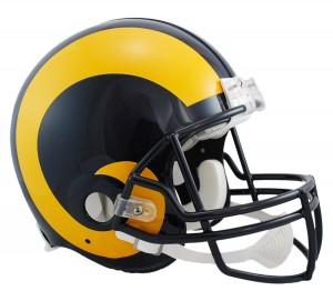 Saint Louis Rams 1981-1999 Throwback Authentic Full Size Helmet