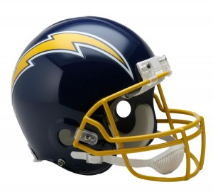 San Diego Chargers 1974-1987 Throwback Authentic Full Size Helmet