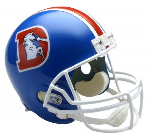 Denver Broncos 1975-1996 Throwback Replica Full Size Helmet