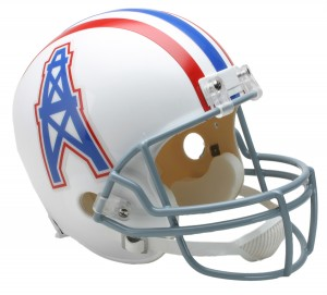 Houston Oilers 1975-1980 Throwback Replica Full Size Helmet