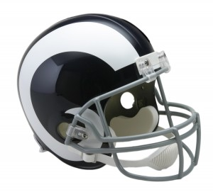 Los Angeles Rams 1965-1972 Throwback Replica Full Size Helmet