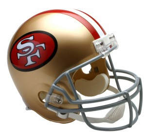 San Francisco 49ers 1964-1995 Throwback Replica Full Size Helmet