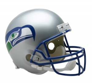 Seattle Seahawks 1983-2001 Throwback Replica Full Size Helmet
