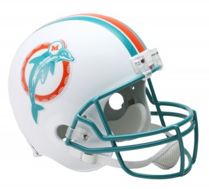 Miami Dolphins 1980-1996 Throwback Replica Full Size Helmet