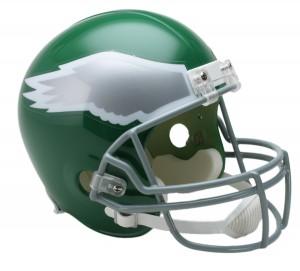 Philadelphia Eagles 1974-1995 Throwback Replica Full Size Helmet