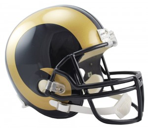 Riddell NFL Saint Louis Rams 2000-2016 Throwback VSR4 Replica Full Size Helmet