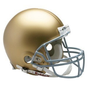 Riddell NCAA Notre Dame Fighting Irish Authentic Vsr4 Full Size Football Helmet