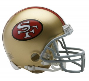 San Francisco 49ers 1964-1995 Throwback Replica Mini Helmet