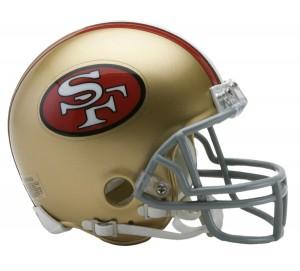 San Francisco 49ers 1964-1995 Throwback Replica Mini Helmet