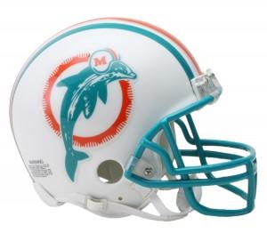 Miami Dolphins 1980-1996 Throwback Replica Mini Helmet