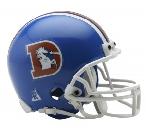 Denver Broncos 1975-1996 Throwback Replica Mini Helmet