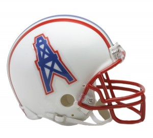 Houston Oilers 1981-1996 Throwback Replica Mini Helmet