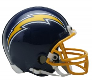 San Diego Chargers 1974-1987 Throwback Replica Mini Helmet