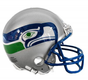 Seattle Seahawks 1983-2001 Throwback Replica Mini Helmet