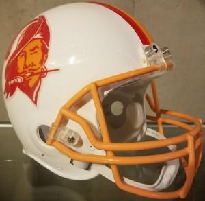 Tampa Bay Buccaneers 1976-1996 Throwback Riddell Mini Vsr4 Helmet