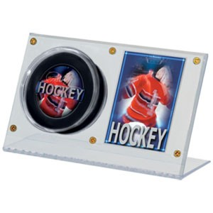Acrylic Puck and Card Holder
