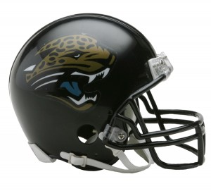 Jacksonville Jaguars 1995-2012 Throwback Replica Mini Helmet