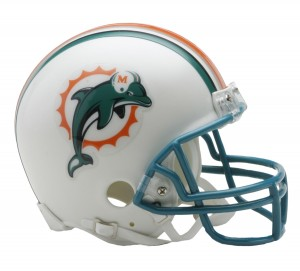 Miami Dolphins 1997-2012 Throwback Replica Mini Helmet