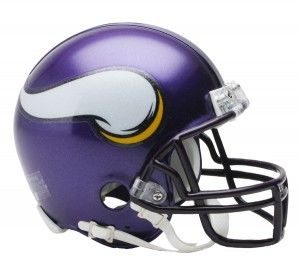 Minnesota Vikings 2006-2012 Throwback Replica Mini Helmet