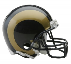 Riddell NFL Saint Louis Rams 2000-2016 Throwback VSR4 Replica Mini Helmet
