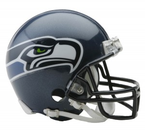 Riddell NFL Seattle Seahawks Matte Navy VSR4 Replica Mini Helmet
