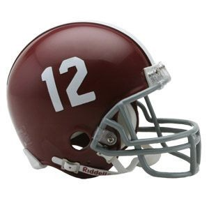 Riddell NCAA Alabama Crimson Tide #12 Throwback Replica Vsr4 Mini Football Helmet