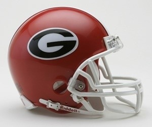 Georgia Bulldogs Riddell Mini Vsr4 Helmet
