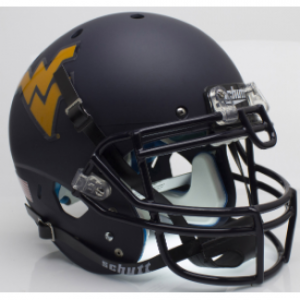 Schutt NCAA West Virginia Mountaineers Matte Navy XP Authentic Full Size Helmet