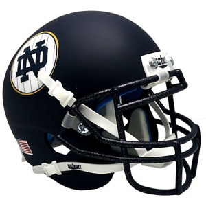 Riddell Notre Dame Fighting Irish 2018 Shamrock Series Matte Navy Speed Mini Helmet