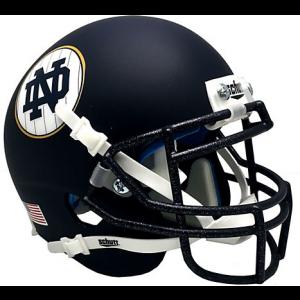 Riddell Notre Dame Fighting Irish 2018 Shamrock Series Matte Navy Speed Mini Helmet
