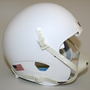 Schutt Matte White Blank Customizable XP Authentic Mini Football Helmet Shell