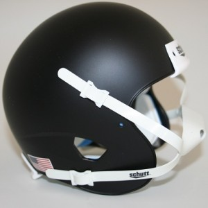 Schutt Matte Black Blank Customizable XP Authentic Mini Football Helmet Shell