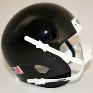 Schutt Black Blank Customizable XP Authentic Mini Football Helmet Shell