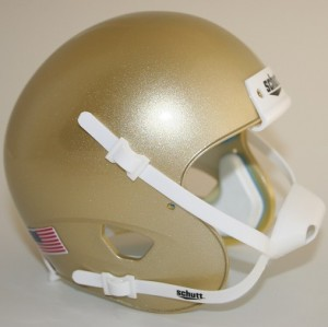 Schutt Metallic Vegas Gold Blank Customizable XP Authentic Mini Football Helmet Shell
