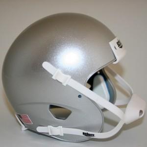Schutt Metallic Silver Blank Customizable XP Authentic Mini Football Helmet Shell