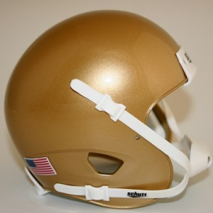 Schutt South Bend Gold Blank Customizable XP Authentic Mini Football Helmet Shell