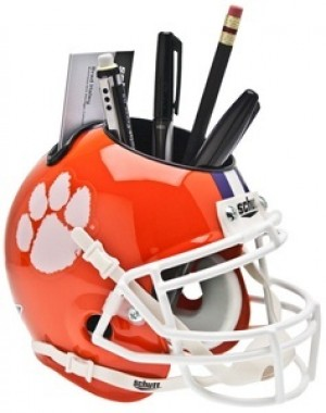 Clemson Tigers Authentic Mini Helmet Desk Caddy