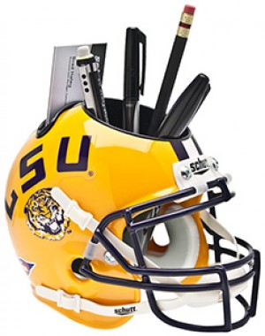 LSU Tigers Authentic Mini Helmet Desk Caddy