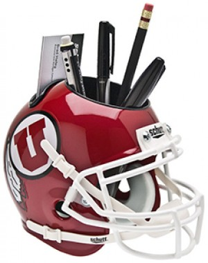 Utah Utes Authentic Mini Helmet Desk Caddy