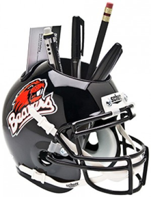 Oregon St Beavers 1999-2012 Throwback Authentic Mini Helmet Desk Caddy